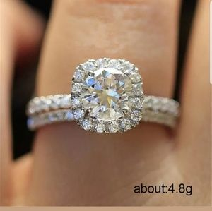 new Beautiful s925 filled white sapphire ring